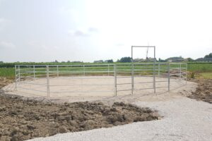 Tondino scoperto per cavalli